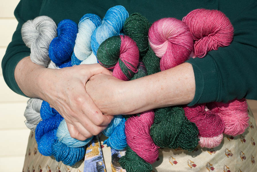 Holiday hand dyed Yarn collection