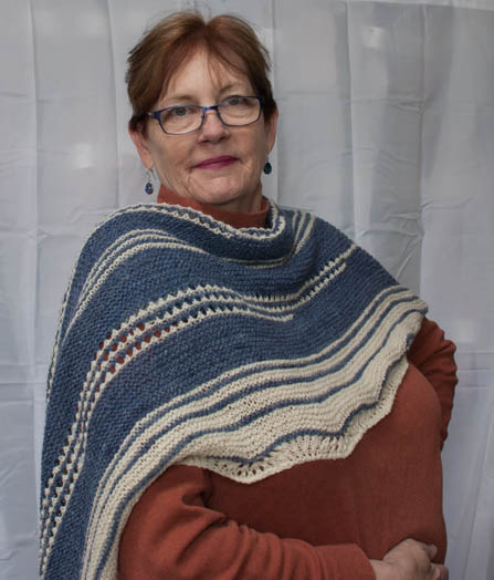 shawl for alpaca wool blend yarn