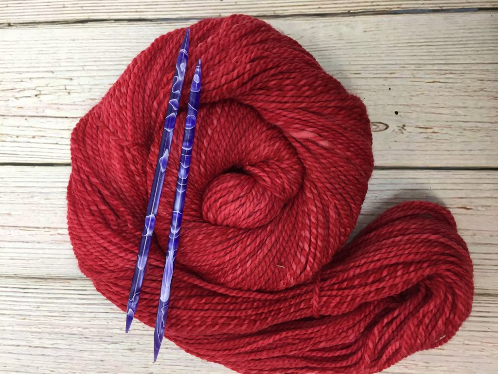 red marled merino yarn
