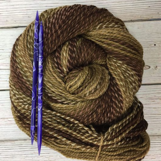 brown marled merino yarn