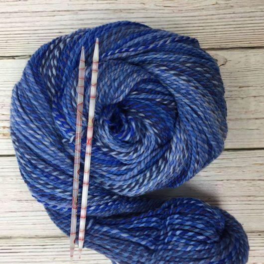blue marled merino yarn