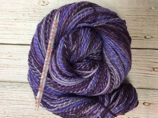 purple marled merino yarn