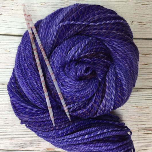 deep purple synergy marled merino yarn
